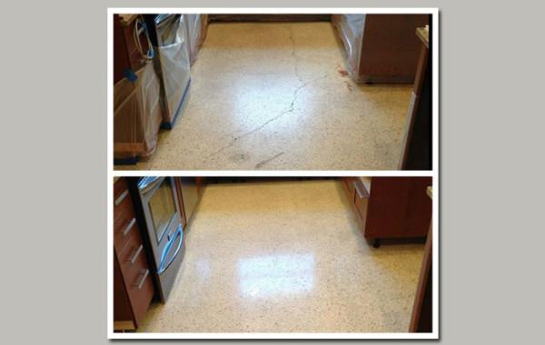 Terrazzo Floor Crack Repair