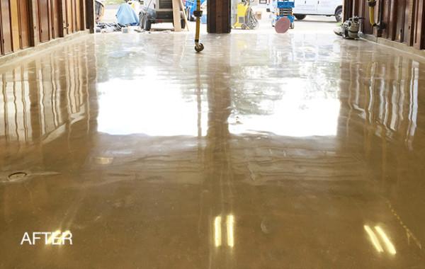 Garage Floor Polished