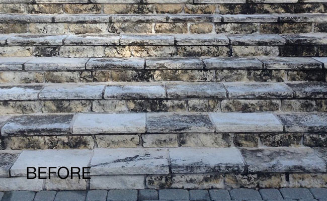 limestone-discoloration