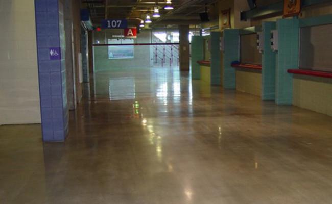 Alamodome restored floors