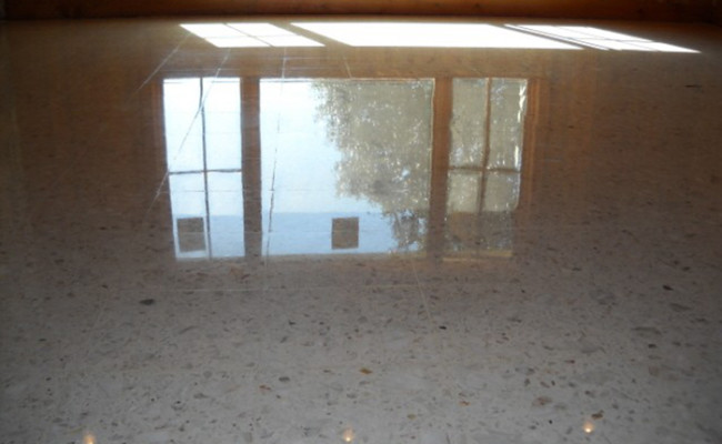 new life for terrazzo floor