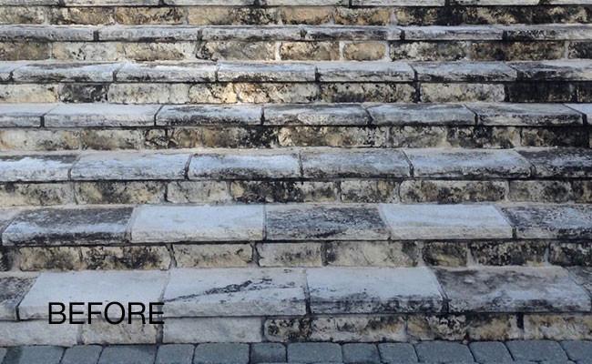 limestone-discoloration