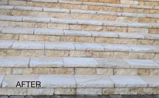 limestone-discoloration-removed