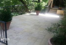 Like-New Limestone Patio
