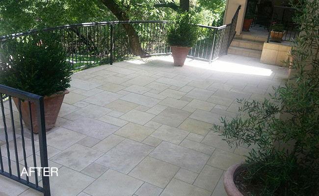 Limestone Patio Cleaning And Sealing Austin Tx