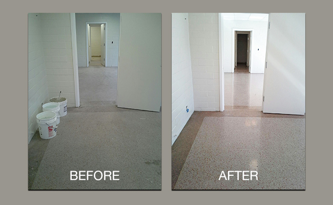 Before After Stone Floors And Countertops Case Studies
